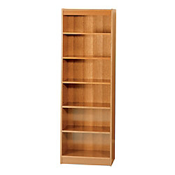 Safco Worke Wood Veneer Baby Bookcases Medium Oak 6 Shelves 72
