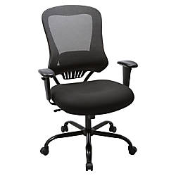 Lorell Mesh High Back Chair Black