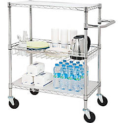 Lorell 3 Tier Steel Rolling Carts