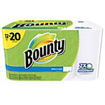 """Bounty Select-A-Size 2-Ply Paper Towel Mega Rolls, 11"""" x 6"""", White, 105 Sheets Per Roll, Pack Of 12 Rolls"""