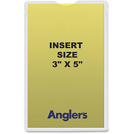 "Anglers Heavy Crystal Clear Poly Envelopes - Document - 3"" Width x 5"" Length - Polypropylene - 50 / Pack - Crystal Clear"