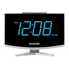Sharp Digital Alarm Clock With Jumbo