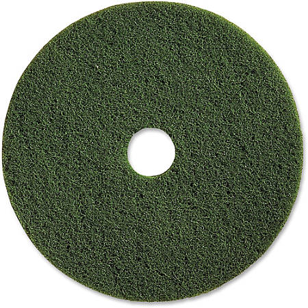 "Genuine Joe 20"" Scrubbing Floor Pad - 20"" Diameter - 5/Carton x 20"" Diameter x 1"" Thickness - Fiber - Green"