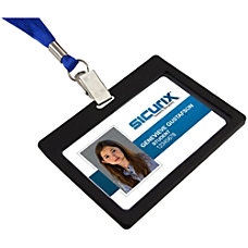 SICURIX Badge Holder Horizontal 6 Pack