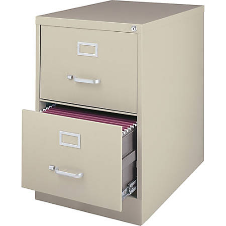 Lorell® Fortress Series 28 1/2''D 2-Drawer Legal-Size Steel Vertical File Cabinet, Putty