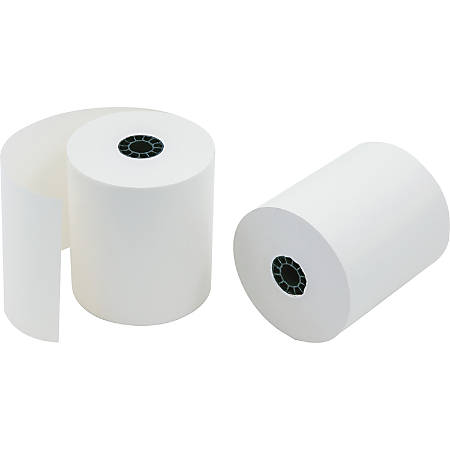 """PM Direct Thermal Print Cash Register Roll - 3 1/8"""" x 230 ft - 50 / Carton - Off White"""