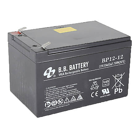 B & B BP Series Battery, BP12-12, B-SLA1212