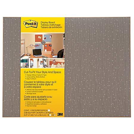 """Post-it Cut-to-Fit Display Board, 18"""" x 23"""", Mocha"""