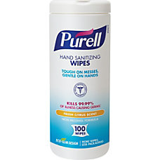 Purell Textured Sanitizing Wipes Fresh Citrus