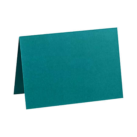 "LUX Folded Cards, A2, 4 1/4"" x 5 1/2"", Teal, Pack Of 250"