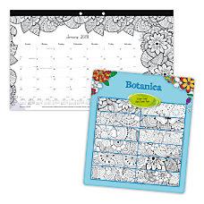 Blueline DoodlePlan Monthly Coloring Desk Pad