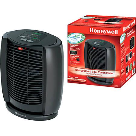 """Honeywell® EnergySmart™ 1500-Watt Cool-Touch Heater, 11 5/8""""H x 7 1/8""""W x 10 3/8""""D, Black"""