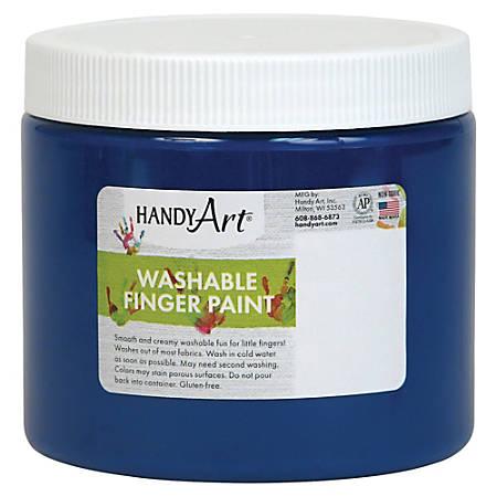 Handy Art Washable Finger Paint - 16 oz - 1 Each - Blue