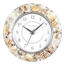 FirsTime Co Clear Seashells Round Wall