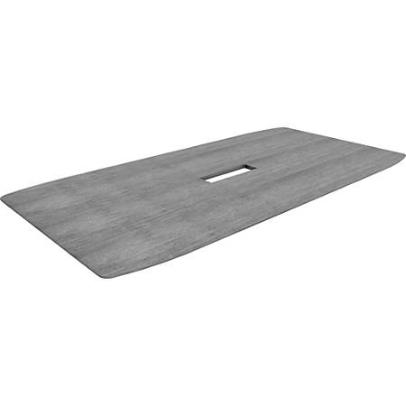 Lorell® Rectangular Conference Table Top, 8'W, Weathered Charcoal