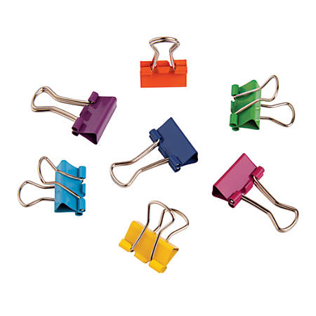 "Office Depot® Brand Fashion Binder Clips, 1/2"", Assorted Colors, Pack Of 60"