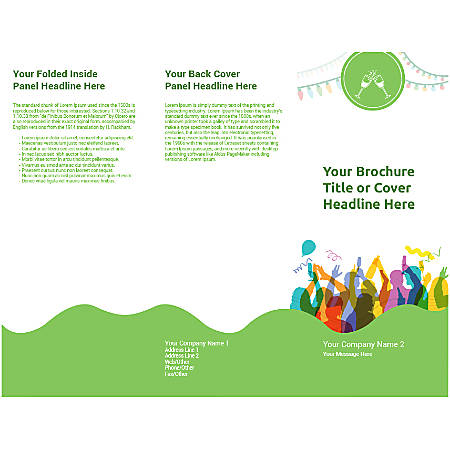 Customizable Trifold Brochure, Party Time