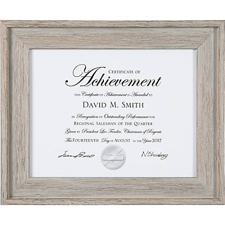 "Dax Burns Group Barnwood Document Frame - 14.10"" x 11.60"" Frame Size - Rectangle - Wall Mountable - Vertical, Horizontal - 1 Each - Gray"