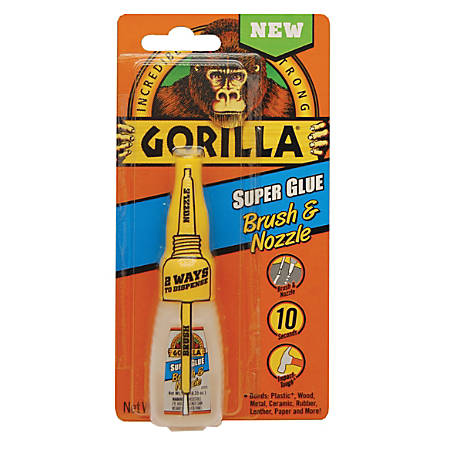 Gorilla™ Super Glue Brush & Nozzle, 0.35 Oz