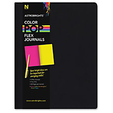 Astrobrights Flex Journals with Eclipse Black