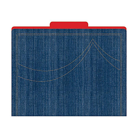 "Barker Creek Tab File Folders, 8 1/2"" x 11"", Letter Size, Denim, Pack Of 12"