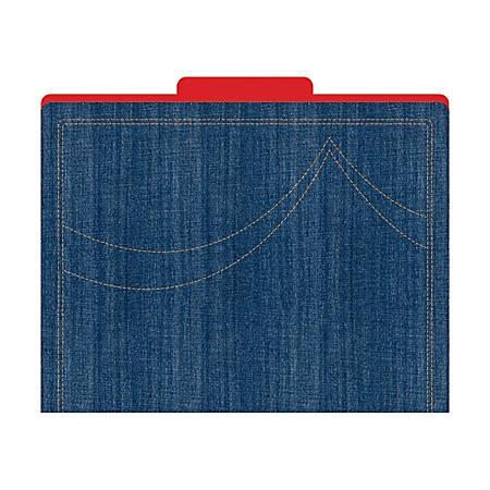 "Barker Creek Tab File Folders, 8 1/2"" x 11"", Letter Size, Denim, Pack Of 12"