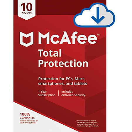 McAfee® Total Protection, For 10 PC And Apple® Mac® Devices, Download Version