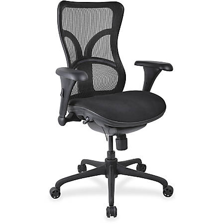 Lorell® Mesh High-Back Fabric Seat Chair, Black