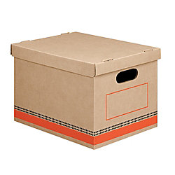 """Office Depot® Brand Economy Storage Boxes, Letter/Legal Size, 15"""" x 12"""" x 10"""", 100% Recycled, Kraft, Pack Of 6"""