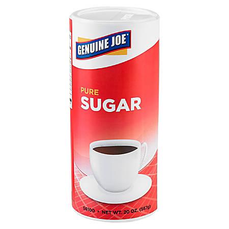 Genuine Joe Pure Sugar Canisters, 20 Oz., Pack Of 3