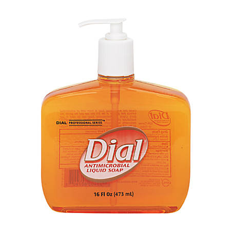 Dial® Antimicrobial Liquid Hand Soap, Unscented, 16 Oz
