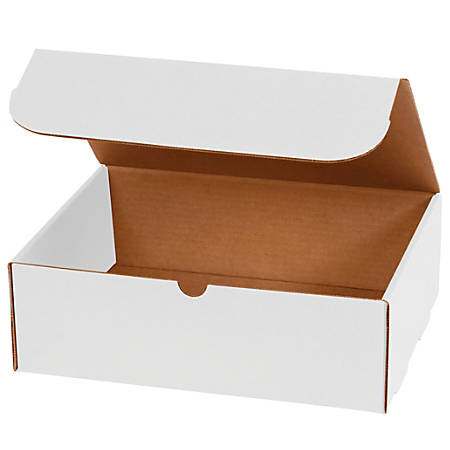"""Office Depot® Brand 10"""" Corrugated Mailers, 6""""H x 7""""W x 10""""D, White, Pack Of 50"""
