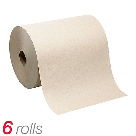 GP Pro SofPull® 100% Mechanical Recycled Brown Hardwound Roll Paper Towels, 6 Rolls Per Carton