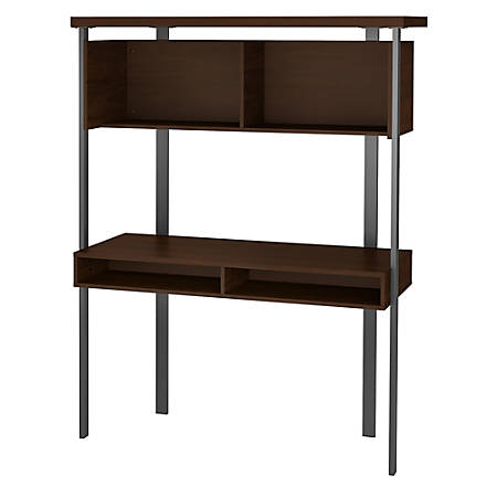 Bush Furniture Architect Small Computer Desk With Hutch, Modern Walnut,  Standard Delivery Item # 3524810
