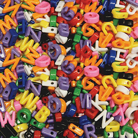 Creativity Street Upper Case Letter Beads - Art Project, Fun and Learning, Jewelry - 288 Piece(s) - 288 / Pack - Assorted