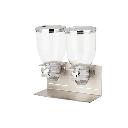 Zevro Designer Edition Dispenser, Double, 35 Oz, Silver