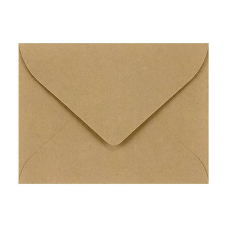 """LUX Mini Envelopes With Flap Closure, #17, 2 11/16"""" x 3 11/16"""", Grocery Bag, Pack Of 50"""