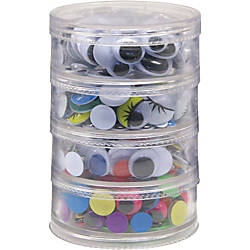Creativity Street Wiggle Eyes Stackable Storage
