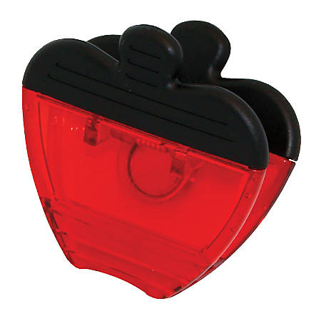 """Ashley Productions Magnetic Clips, 3"""", Apple, Red, Pack Of 12"""