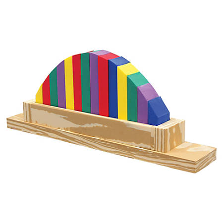 Creativity Street Half Moon Sorter - Skill Learning: Comprehension, Eye-hand Coordination, Color Identification, Shape, Sorting, Fine Motor, Counting - 15 Pieces