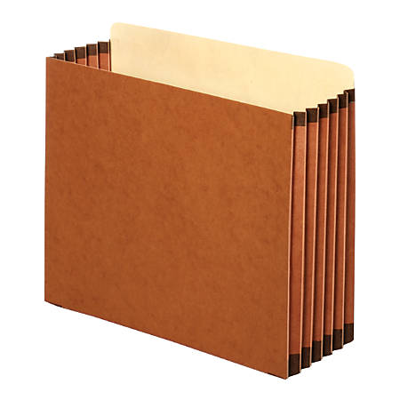 "Pendaflex® File Pockets, Cabinet, Letter Size, 5 1/4"" Expansion, Brown, Box Of 10"