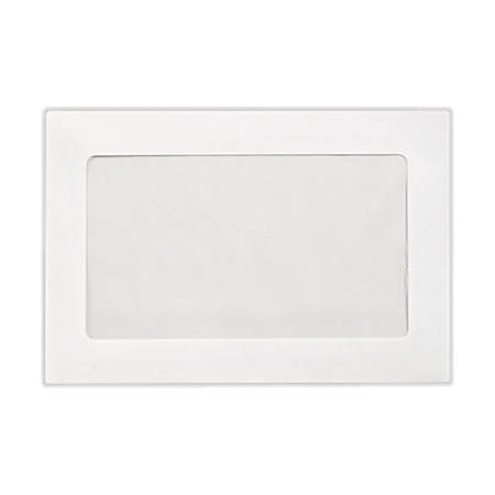 "LUX Full-Face Window Envelopes With Moisture Closure, #6 1/2, 6"" x 9"", Bright White, Pack Of 500"