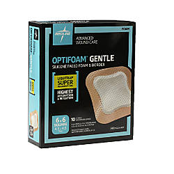 Medline Optifoam Gentle Silicone Faced Foam