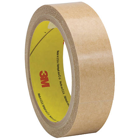 "3M™ 927 Adhesive Transfer Tape Hand Rolls, 3"" Core, 1"" x 60 Yd., Clear, Case Of 36"