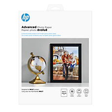 HP Advanced Photo Paper Letter Size