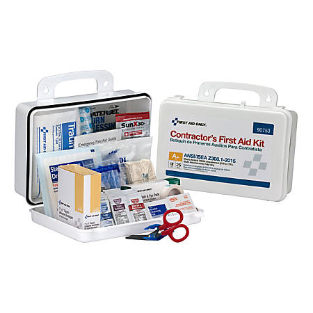 First Aid Only 25-Person Contractor First Aid Kit, White, 128 Pieces