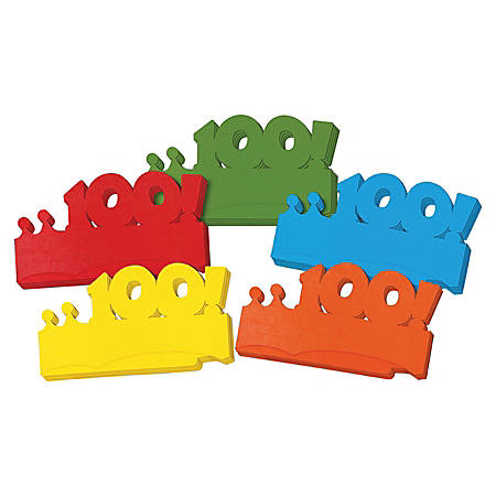 ChenilleKraft Bright 100! Paper Crowns, Pack Of 25
