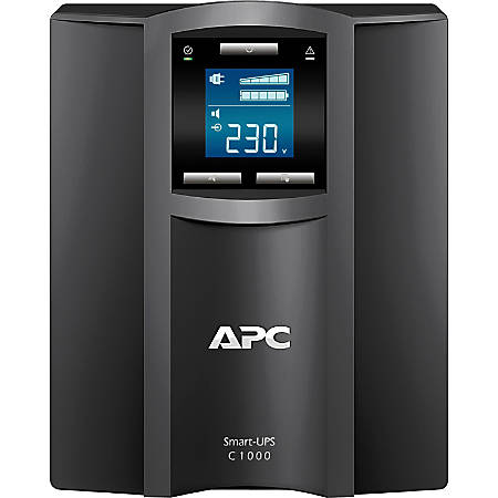 APC by Schneider Electric Smart-UPS C 1000VA LCD 230V - Tower - 3 Hour Recharge - 7 Minute Stand-by - 230 V AC Output