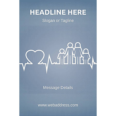 Custom Perforated Window Decal Template, Family Health 2