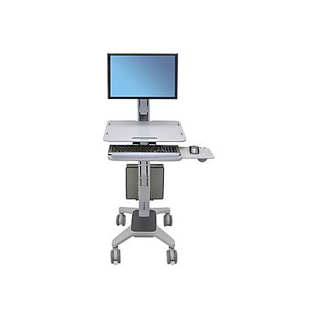 Ergotron WorkFit-C Sit-Stand Workstation, Gray